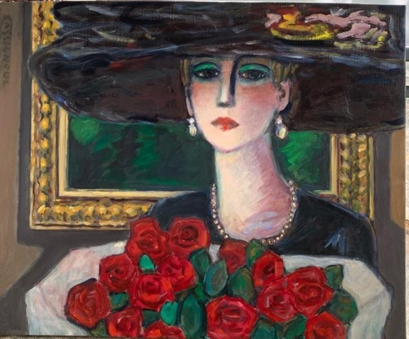 Jean-Pierre CASSIGNEUL - Painting - Le bouquet