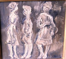 Mikhail LARIONOV - Painting - The Conversation