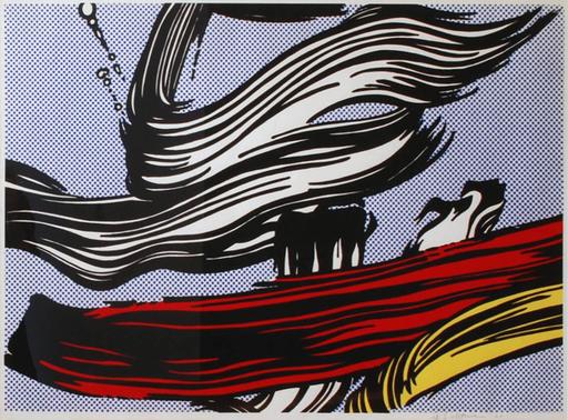 Roy LICHTENSTEIN - Stampa Multiplo - Brushstrokes