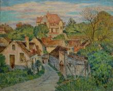 Lucien VOGT - Pintura - Village au soleil (Bourron Marlotte ?)