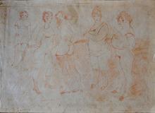 Jules PASCIN - Disegno Acquarello - A Group of Prostitutes