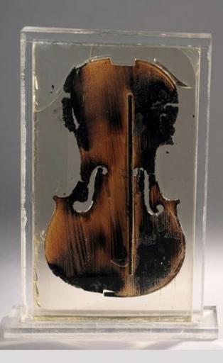 Fernandez ARMAN - Escultura - Sculpture violon (the last violin)