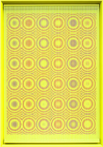 Alberto BIASI - Gemälde - Yellow rain