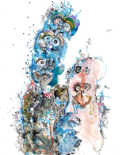 Michael ALAN - Drawing-Watercolor - Love at First Bite