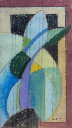 Alfred RETH - Dessin-Aquarelle - Vertical Composition