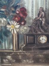 """Henri LE FAUCONNIER - Dibujo Acuarela - """"Still life with clock"""""""