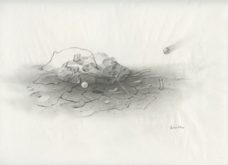 Hiroshi ASADA - Disegno Acquarello - DESSIN AU CRAYON SUR PAPIER CALQUE SIGNÉ HANDSIGNED DRAWING