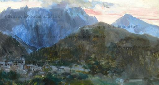 Ulpiano CHECA Y SANZ - Painting - Pyrénées - Pic du Midi