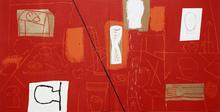 Mimmo PALADINO - Painting - Red Studio, 2008