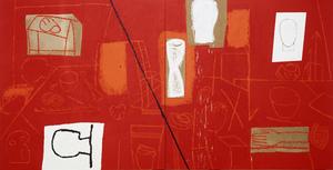 Mimmo PALADINO - Painting - Red Studiio