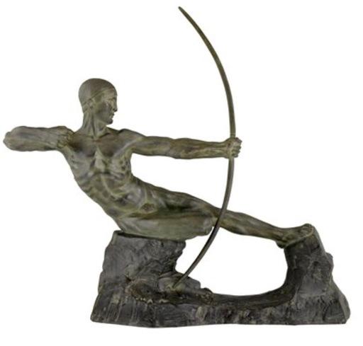 Victor DEMANET - Sculpture-Volume - Le trireur à l'arc