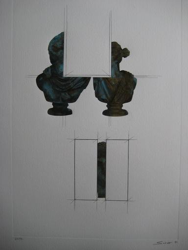 Sacha SOSNO - Estampe-Multiple - METALLO GRAVURE 1991 SIGNÉ CRAYON NUM/99 HANDSIGNED ETCHING