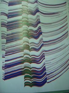 Daniel BUREN, composition abstraite