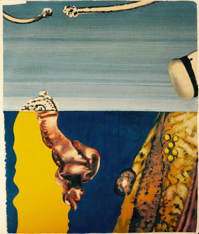 Yuri DYSHLENKO - Pintura - Imaginary landscape in sunny weather