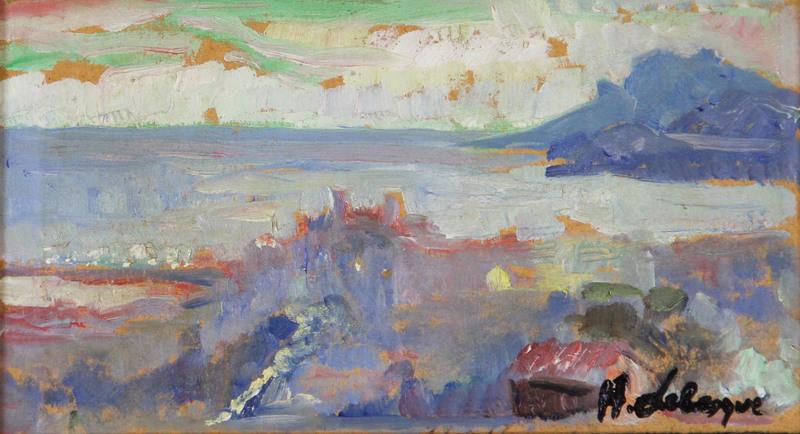 Henri Baptiste LEBASQUE - Pintura - Cannes, Le Suquet