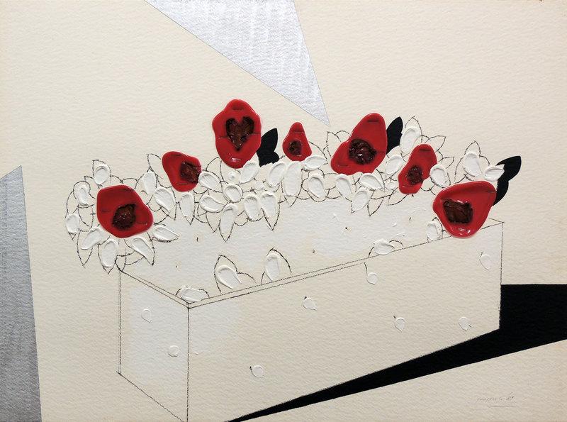Concetto POZZATI - Peinture - A che punto siamo con i fiori?