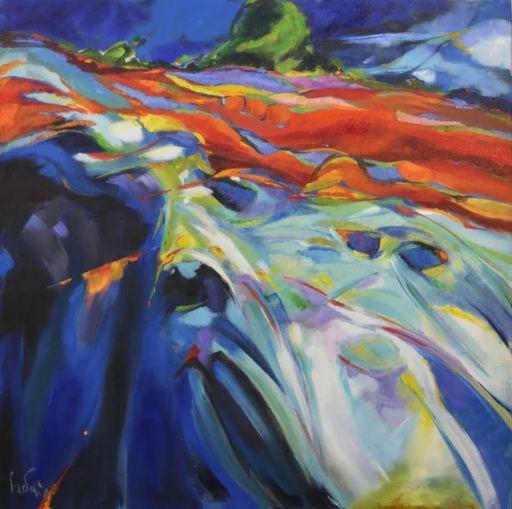 Bernard CADENE - Painting - La coulée verte