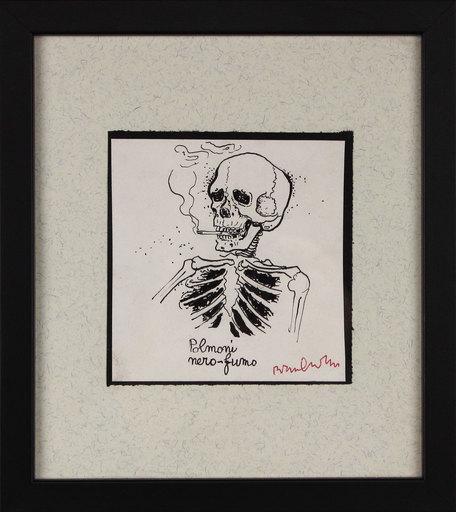 Bruno CARUSO - Dessin-Aquarelle - Polmoni nero fumo