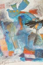 """Yoel BENHARROUCHE - Pintura - """"L'óiseau de mes pensees"""""""