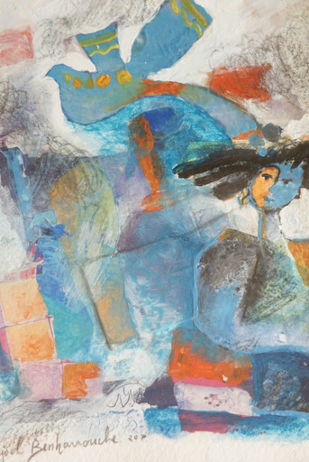 """Yoel BENHARROUCHE - Painting - """"L'óiseau de mes pensees"""""""