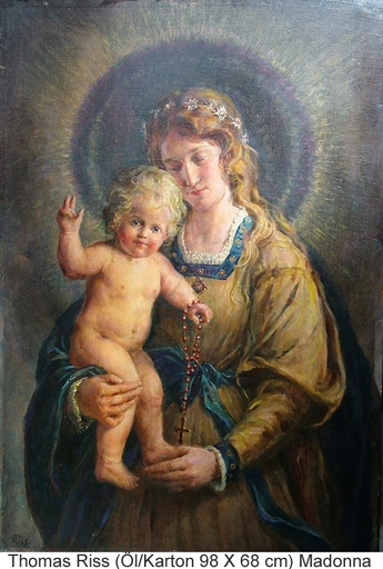 Thomas RISS - Pittura - Madonna mit Kind