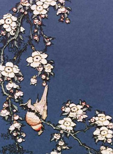 Vik MUNIZ - Fotografia - Bullfinch and Weeping Cherry, from Small Flowers, after Hoku