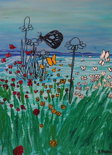 Bernard PINEAU - Painting - H028 Osmose