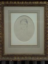让·奥古斯特·多米尼克·安格尔 - 水彩作品 - Portrait of Madame Dubreuil