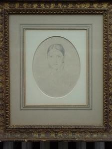 Jean Auguste Dominique INGRES - Dibujo Acuarela - Portrait of Madame Dubreuil