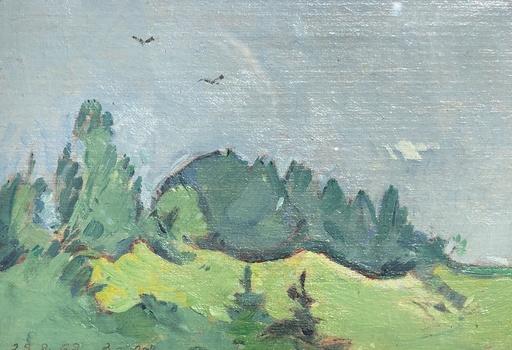 Edmond Henri ZEIGER DE BAUGY - Gemälde - Paysage