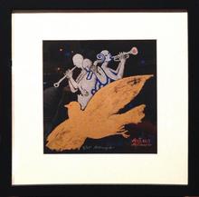 """Alexander TOKAREV - Grabado - Golden Dove, from """"Man-Orchestra"""" series"""