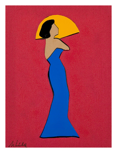 Marco LODOLA - Painting - Lady in blue