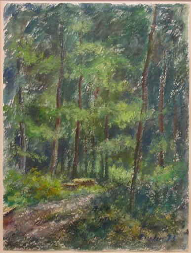 Linde WABER - Zeichnung Aquarell - Sommerwald