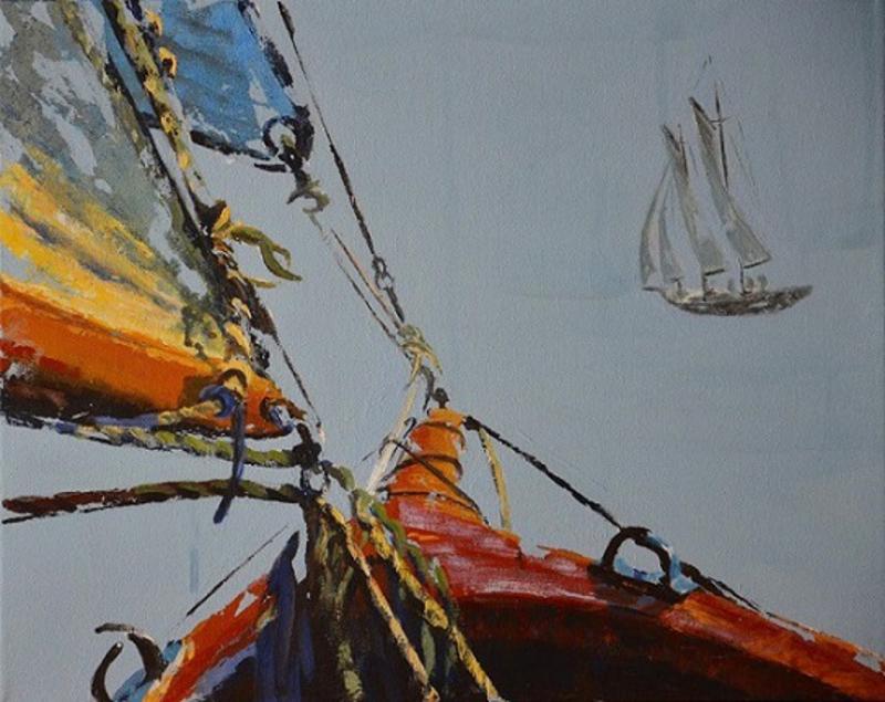 Diana KIROVA - Painting - Navigando V