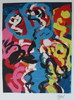 Karel APPEL - Estampe-Multiple - L'Eloge de la Folie.  5 lithographs