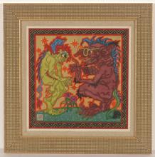 "Alfred WAAGNER - Disegno Acquarello - ""Two creatures"", watercolor, 1910s"