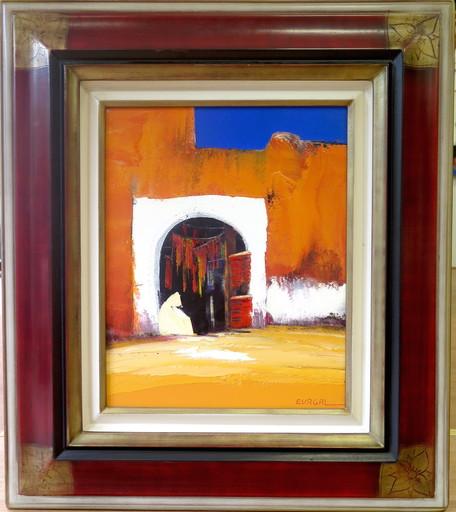 Christian EURGAL - Painting - La babouche jaune