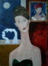 Francesco FASANO - Pintura - La donna con la pipa