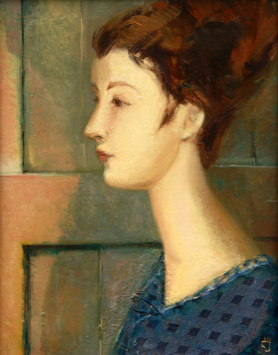 Levan URUSHADZE - Painting - Young woman. Profile