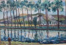Élisée MACLET - Painting - le canal de la Somme