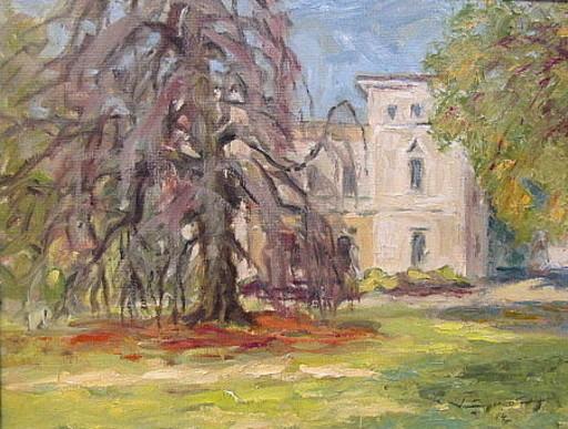 Walter BRÜGGMANN - Painting - In Baur`s Park - Hamburg.