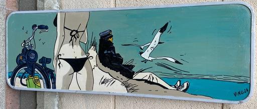 VINC - Gemälde - VINC - Panneau de signalisation - Corto Maltese - 2000