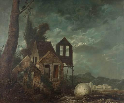 Samuel BAK - Painting - Nocturne