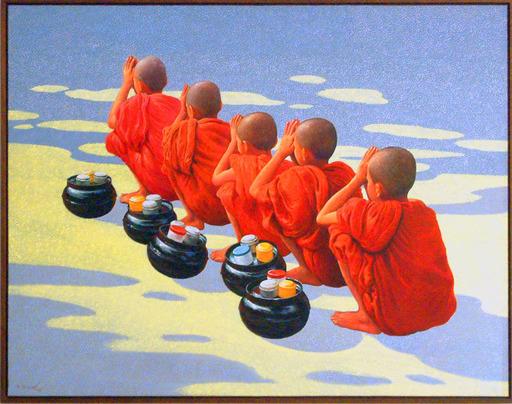 Aung Kyaw HTET - Pittura - 5 Novices