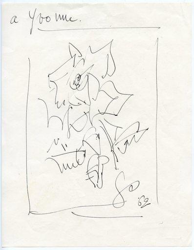 GEN PAUL - Drawing-Watercolor - DESSIN 1962 SIGNÉ GP HANDSIGNED DRAWING