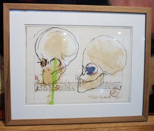 Jesse A. FERNANDEZ - Dibujo Acuarela - Deux vanités
