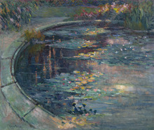 Robert Antoine PINCHON - Dibujo Acuarela - Le bassin aux nymphéas