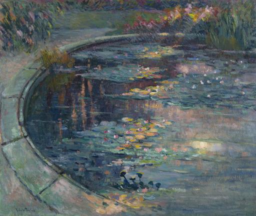 Robert Antoine PINCHON - Dessin-Aquarelle - Le bassin aux nymphéas