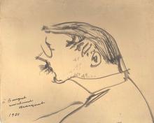 阿尔伯特·马尔凯 - 水彩作品 - Autoportrait de 1900