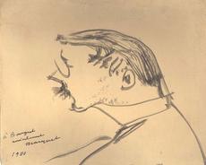 Albert MARQUET - Dibujo Acuarela - Autoportrait de 1900